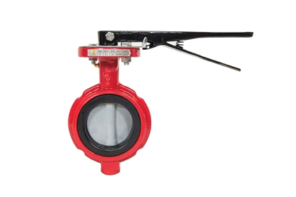 "4"" Butterfly Valve with Nylon Coated Disc"