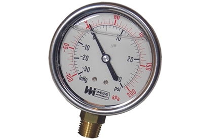 "4-1/2"" Liquid Filled Vacuum Pressure Gauge"
