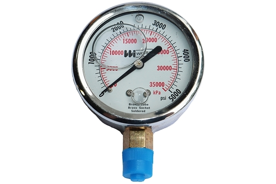 "2-1/2"" Liquid Filled Lower Mount Pressure Gauge"